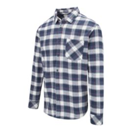 Quiksilver Men's Snappy Flannel Shirt - Navy Blazer
