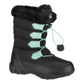 McKINLEY Girls' Oriel II Winter Boots - Black/Aqua | Sport