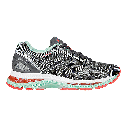 4ddad228fbd ASICS Women s Gel Nimbus 19 Running Shoes - Grey White Coral