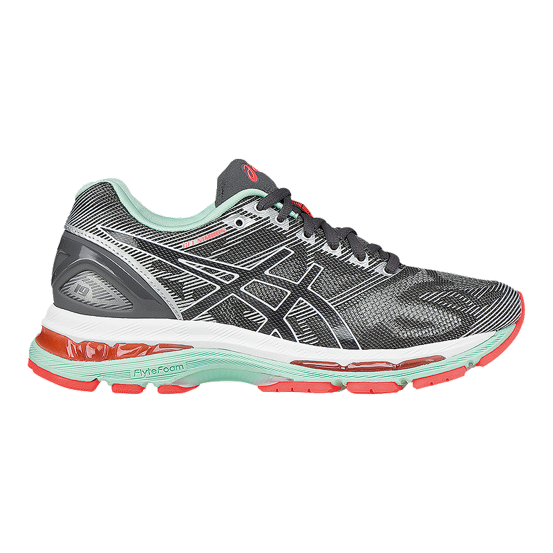 26833e8cc78498 ASICS Women s Gel Nimbus 19 Running Shoes - Grey White Coral