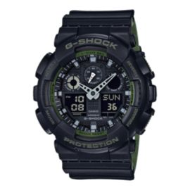 Casio G-Shock GA100L-1A Men's Watch- Black/Green