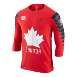 Team Canada Nike 3/4 Sleeve Raglan T Shirt