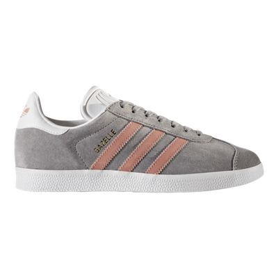 adidas Women's Gazelle Shoes - Grey/Pink