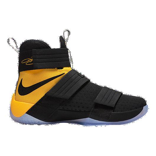 newest 18701 51d77 Nike Men s LeBron Soldier 10 Franchise Basketball Shoes - Black Gold   Sport  Chek