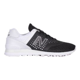 New Balance Men's 574 (Breathe)  Shoes - Black/White