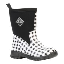 Muck Girls' Breezy Rain Boots - Black All Over Print