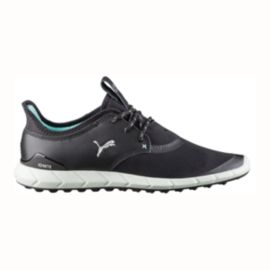 PUMA Women's Ignite Sport Golf Shoes - Black/Silver/Blue
