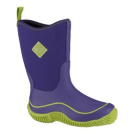 Muck Girls' Hale Pre School Rain Boots - Purple/Green