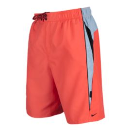 Nike Men's Core Contend 9 Inch Volley Shorts - Bright Crimson Red