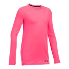 Under Armour Girls' Coldgear Long Sleeve Crew Top