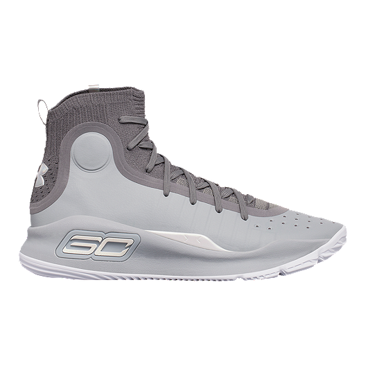 e7f70ae50d9 Under Armour Men s Curry 4 Basketball Shoes - Grey Graphite White ...