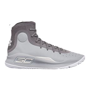 d7e356fbe4b5 Under Armour Men s Curry 4 Basketball Shoes - Grey Graphite White