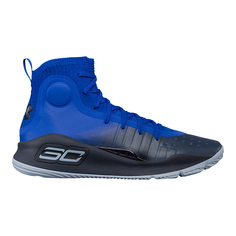 bcc6f8519858 Under Armour Men s Curry 4 Basketball Shoes - Royal Blue