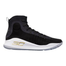 Under Armour Men's Curry 4 Basketball Shoes - Black/White/Gold