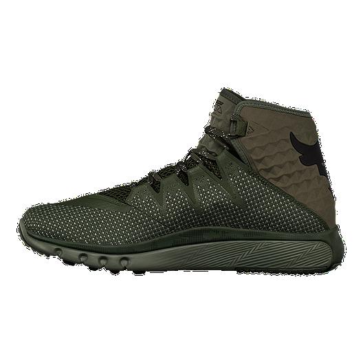 8ab79d2c Under Armour Men's Delta Project Rock Training Shoes - Green | Sport ...
