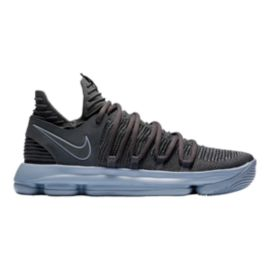 Nike Men's Zoom KDX Basketball Shoes - Dark Grey/Silver