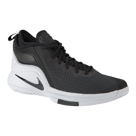 77fcd0270cb1 ... low price nike mens lebron witness ii basketball shoes black white  black black 49079 83634