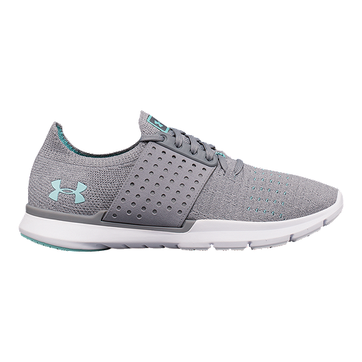 cdb112bbb9 Under Armour Women s Threadborne Slingwrap Running Shoes - Grey White