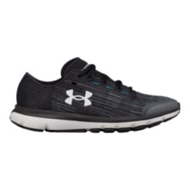 Under Armour Women's SpeedForm® Velociti Graphic Running Shoes - Grey/Black