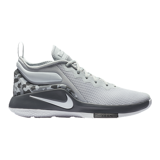 aa38520970fe Nike Men s LeBron Witness II Basketball Shoes - Platinum White Grey ...