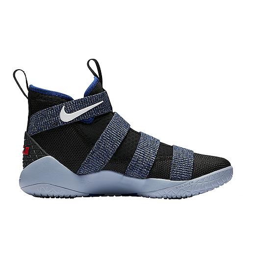 buy popular 9ff75 6f4e2 Nike Men's LeBron Soldier XI Basketball Shoes - Black/White ...