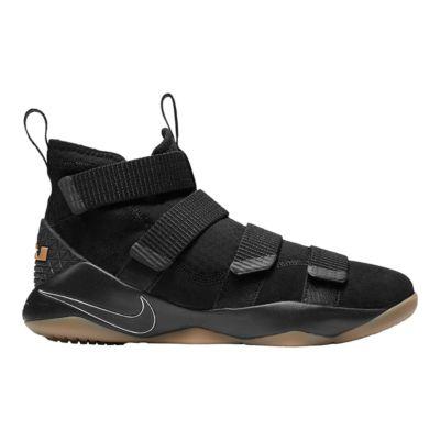 Nike Men's LeBron Soldier XI Basketball Shoes Black/Gum Sport Chek