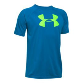 Under Armour Boys' Big Logo Short Sleeve Tech Top