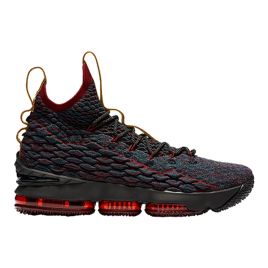 d4b55282dfff Nike Men s LeBron 15 Basketball Shoes - Dark Teal Brown Red