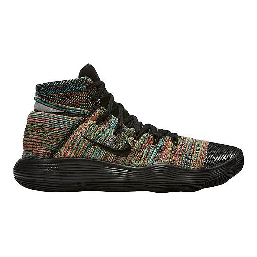2dc0a1cb98ea ... new style nike mens hyperdunk 2017 flyknit basketball shoes black multi  knit black black 4233d 199d9