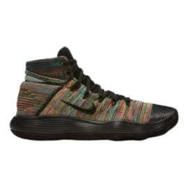 Nike Men's Hyperdunk 2017 Flyknit Basketball Shoes - Black/Multi Knit
