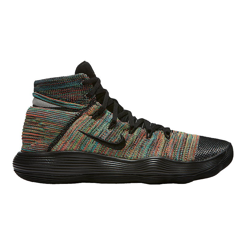 20889e54f54a Nike Men s Hyperdunk 2017 Flyknit Basketball Shoes - Black Multi Knit