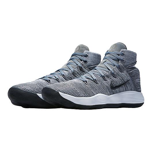 24fc6c8fd94 Nike Men s Hyperdunk 2017 Flyknit Basketball Shoes - Grey Black ...