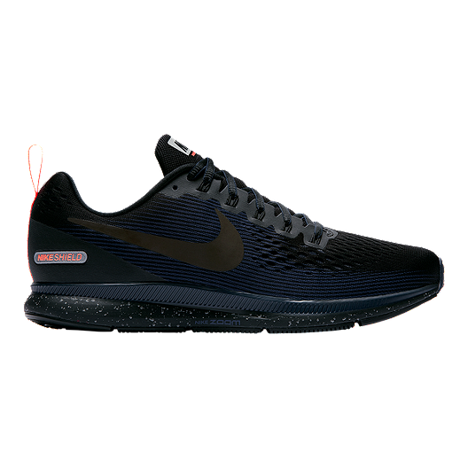 e2bafa0727bd0 Nike Men s Pegasus 34 Shield Running Shoes - Black