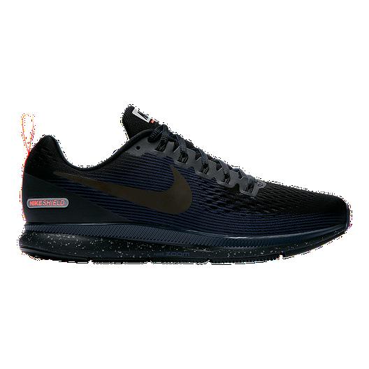 newest collection f23af c196f Nike Men's Pegasus 34 Shield Running Shoes - Black | Sport Chek