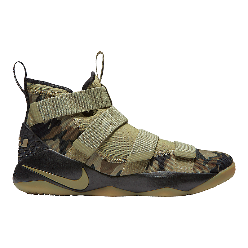 768081d2441 Nike Men s LeBron Soldier XI Basketball Shoes - Olive Green Sequoia ...