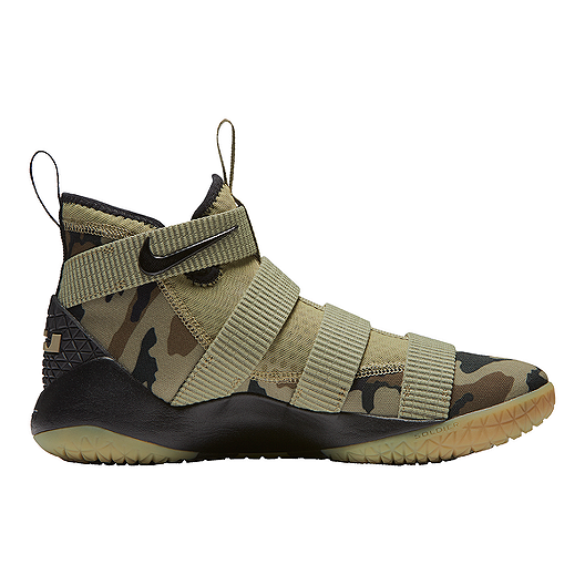75aaee835bc Nike Men s LeBron Soldier XI Basketball Shoes - Olive Green Sequoia ...