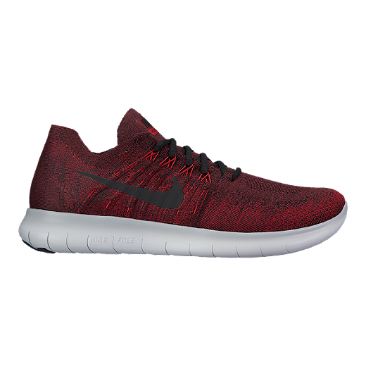 online retailer 64cfe 579d8 Nike Men s Free RN Flyknit 2017 Running Shoes - Red Grey - DARK TEAM RED