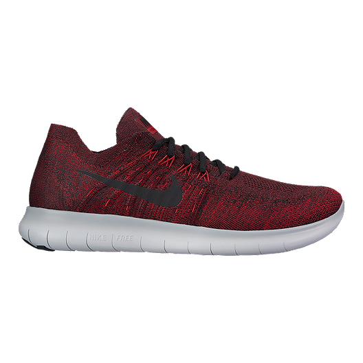 8ed63dd8e47 Nike Men s Free RN Flyknit 2017 Running Shoes - Red Grey