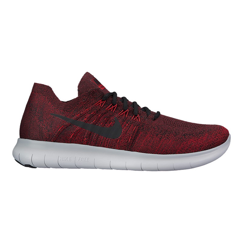 size 40 60be4 1df16 Nike Men's Free RN Flyknit 2017 Running Shoes - Red/Grey ...