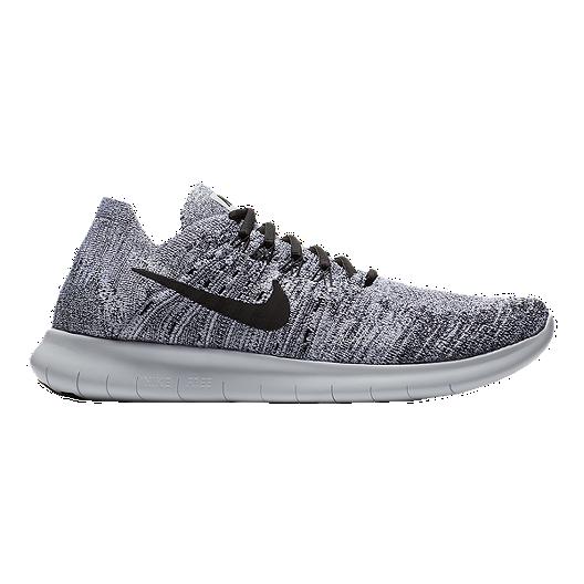 266eb7cf77ce Nike Men s Free RN Flyknit 2017 Running Shoes - White Grey Black ...