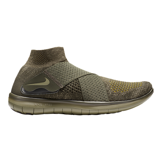 aac7ef998b81 Nike Men s Free RN Motion Flyknit 2017 Running Shoes - Olive Green ...