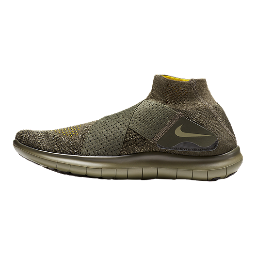 a56dacf1c2ab Nike Men s Free RN Motion Flyknit 2017 Running Shoes - Olive Green ...