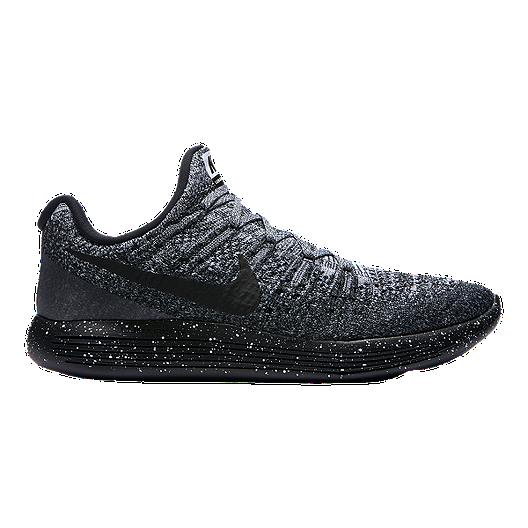 9d2ec5df8d3 Nike Men s LunarEpic Low Flyknit 2 Running Shoes - Dark Grey Black ...