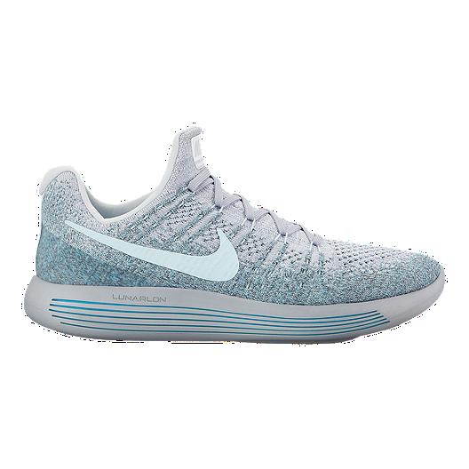 3303e1979134d Nike Men s LunarEpic Low FlyKnit 2 Running Shoes - Platinum White ...