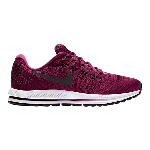 competitive price 8dcfe 99f83 Nike Women s Air Zoom Vomero 12 Running Shoes - Berry Wine Red White -