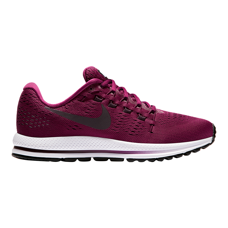 9a594c0eeb3 Nike Women s Air Zoom Vomero 12 Running Shoes - Berry Wine Red White ...