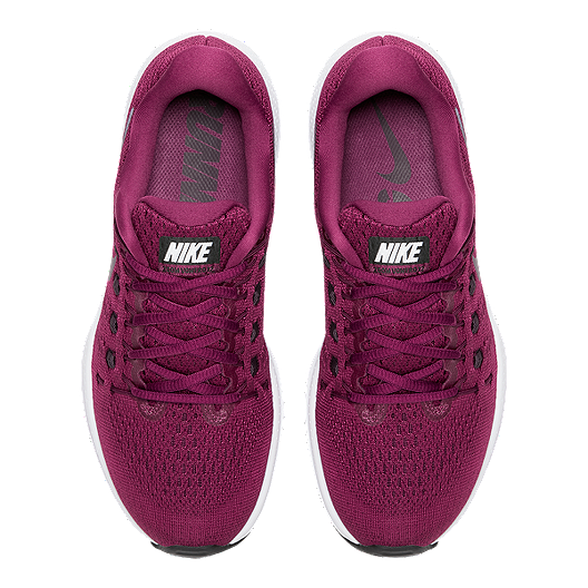 b6e4ba2d52b Nike Women's Air Zoom Vomero 12 Running Shoes - Berry/Wine Red/White ...