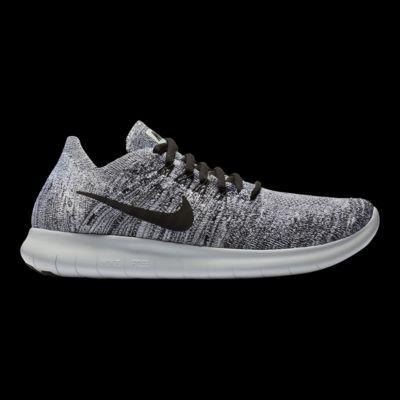nike donne libero rn flyknit 2017 scarpe bianco / nero / silver