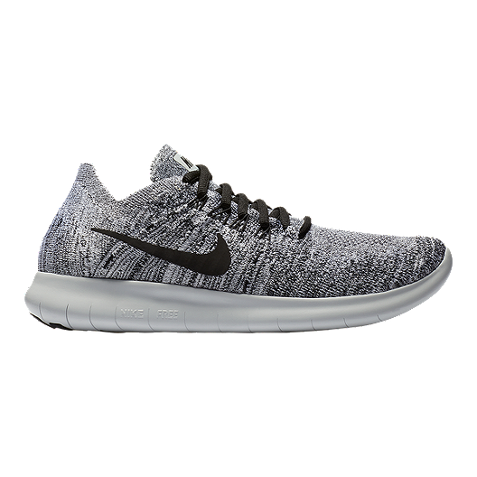 c2814d56e707c Nike Women s Free RN Flyknit 2017 Running Shoes - White Black Silver ...