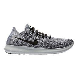 Nike Women's Free RN Flyknit 2017 Running Shoes - White/Black/Silver